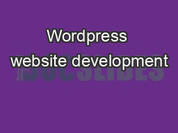 Wordpress website development