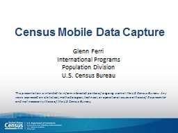 Census Mobile Data Capture