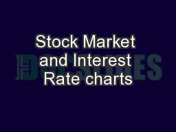 Stock Market and Interest Rate charts