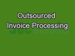 Outsourced Invoice Processing