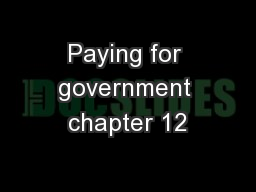 Paying for government chapter 12