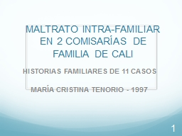 MALTRATO INTRA-FAMILIAR