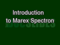Introduction  to Marex Spectron