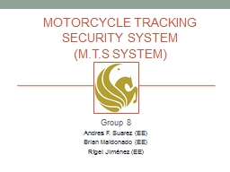 Motorcycle tracking security system