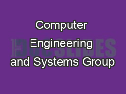 Computer Engineering and Systems Group
