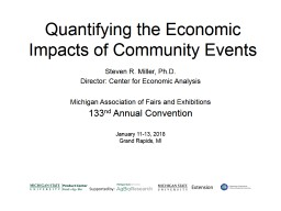 Quantifying the Economic Impacts of Community Events