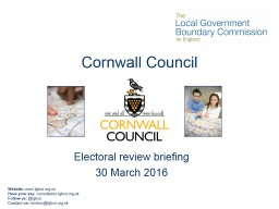 Cornwall Council Electoral review briefing