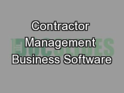 Contractor Management Business Software