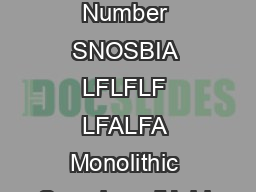 LFLFALFLFLFA LFLFLF LFALFA Monolithic SampleandHold Circuits Literature Number SNOSBIA LFLFLF LFALFA Monolithic SampleandHold Circuits General Description The LFLFLF are monolithic sampleandhold circu