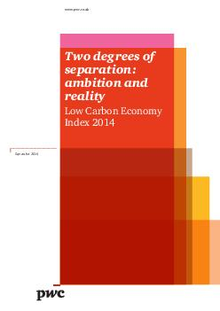 Two degrees of separation ambition and reality Low Carbon Economy Index  www