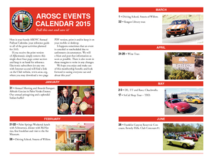 Here is your handy AROSC Annual Pullout Calendar your