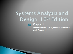 Systems Analysis and Design  10