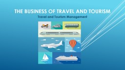 The Business of travel and tourism