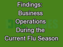 SHRM Survey Findings:  Business Operations During the Current Flu Season