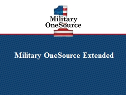 Military OneSource Extended