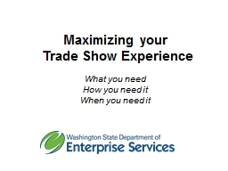 Maximizing your  Trade Show Experience PowerPoint Presentation, PPT - DocSlides