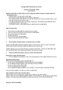 PACKAGE LEAFLET INFORMATION FOR THE USER Carnitor  g C