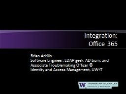 Integration:  Office 365