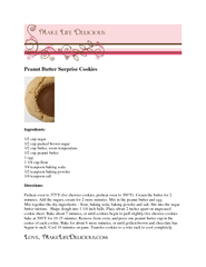 Peanut Butter Surprise Cookies Ingredients  cup sugar