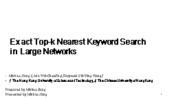 1 Exact Top-k Nearest Keyword Search