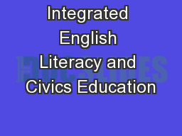 Integrated English Literacy and Civics Education