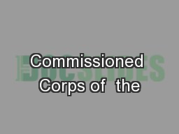 Commissioned Corps of  the