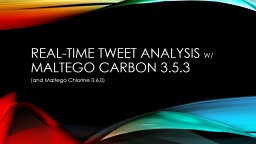 Real-Time Tweet Analysis