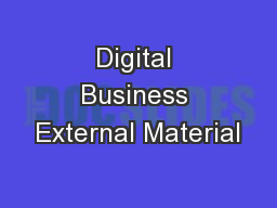Digital Business External Material