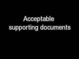Acceptable supporting documents
