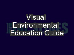 Visual Environmental Education Guide