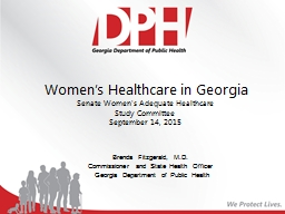 Women's Healthcare in Georgia