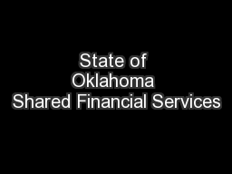 State of Oklahoma Shared Financial Services