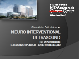 Neuro -interventional ultrasound