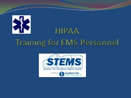 HIPAA Training for EMS Personnel