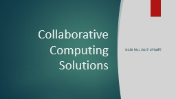 Collaborative Computing Solutions