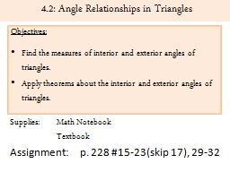 4.2: Angle Relationships in Triangles