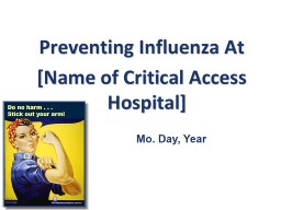 Preventing Influenza At PowerPoint PPT Presentation