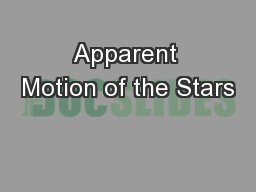 Apparent Motion of the Stars