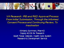 VA Research: IRB and R&D Approval Process PowerPoint PPT Presentation