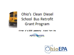 Ohio's Clean Diesel  School Bus Retrofit