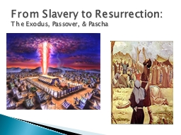 From Slavery to Resurrection: PowerPoint PPT Presentation