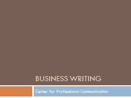 Business Writing Center for Professional Communication