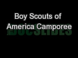Boy Scouts of America Camporee