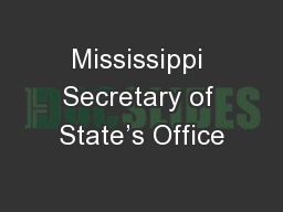 Mississippi Secretary of State's Office