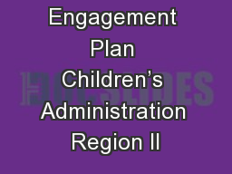 Father Engagement Plan Children's Administration Region II