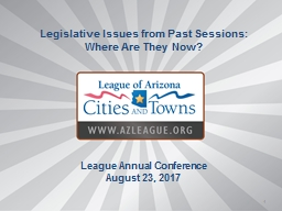 1 Legislative Issues from Past Sessions: