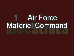 1     Air Force Materiel Command PowerPoint PPT Presentation