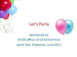 Let�s Party Sponsored by