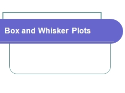 Box and Whisker Plots   Order numbers