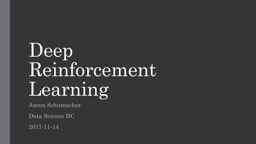 Deep Reinforcement Learning PowerPoint PPT Presentation